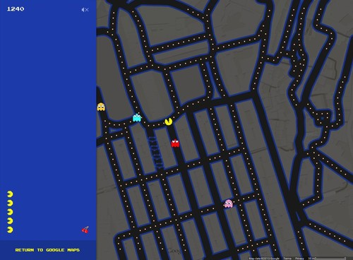 Google Maps on April Fool's Day 2015