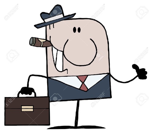 9681467-Cartoon-Doodle-Businessman-Holding-A-Thumb