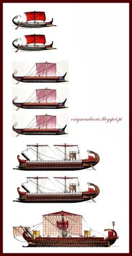 Evolution of the Roman warship