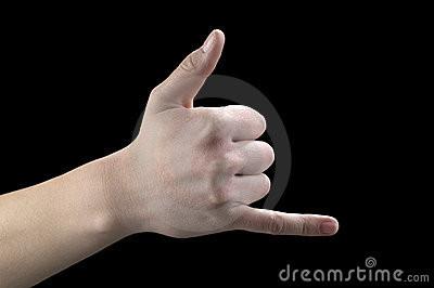 ___ dedo a língua internacional dos gestos signif
