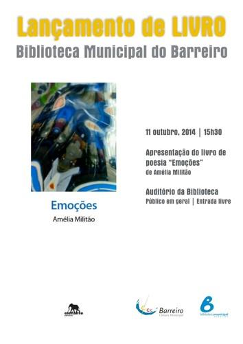 Apresentação do livro Emoções_11 de outubro_Biblioteca Municipal do Barreiro