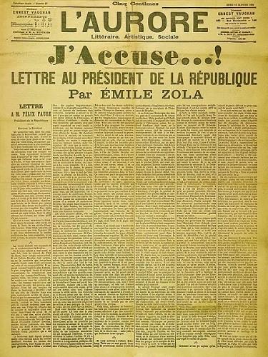 J'accuse, famoso artigo (jornalismo) escrito por