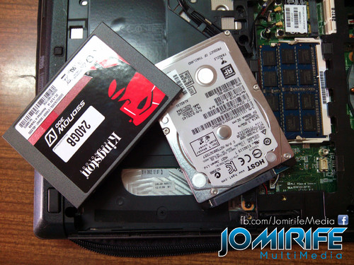 Trocar disco HDD por SSD Kingston 240GB com backup dos dados do disco rígido antigo [en] Exchange the HDD for SSD Kingston 240GB with backup data from old hard drive