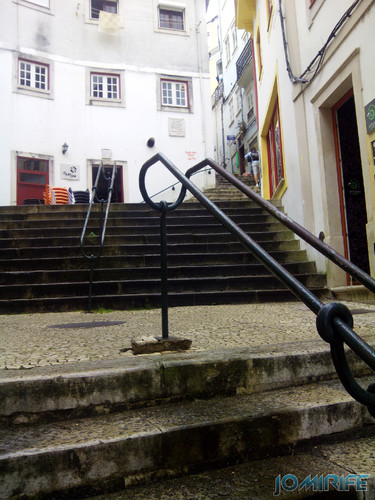Escadas na Rua Quebra Costas em Coimbra [en] Stairs in the street Back Breaking in Coimbra Portugal