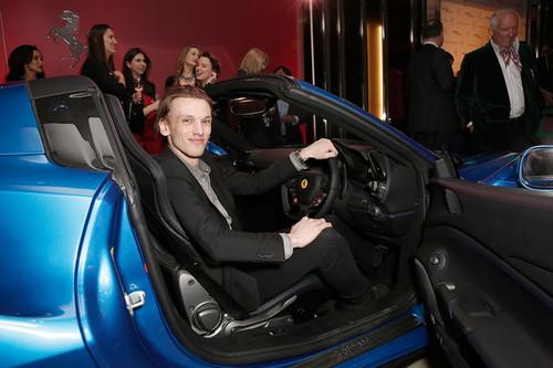 Jamie+Campbell+Bower+Ferrari+488GTB+UK+Launch+KeIS