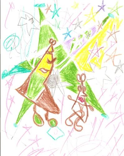 """Digitalização de """"Estrelas""""  Desenho original de F.M.C.L.."""