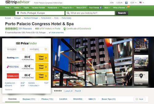 Descontos de OTAs na Tripadvisor para Hotel no Porto