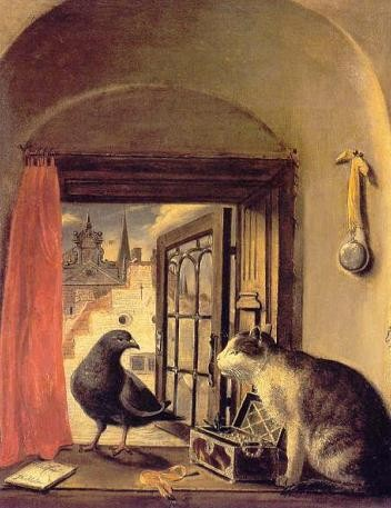 Chat et Oiseau de Govert Camphuysen.JPG