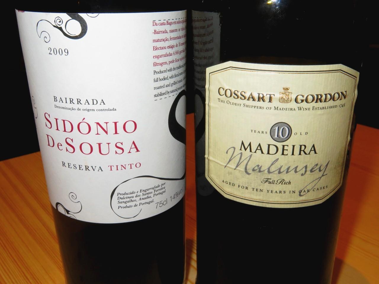 Sidónio de Sousa Reserva Tinto 2009 e Cossart Gordon Malmsey 10 Years Old