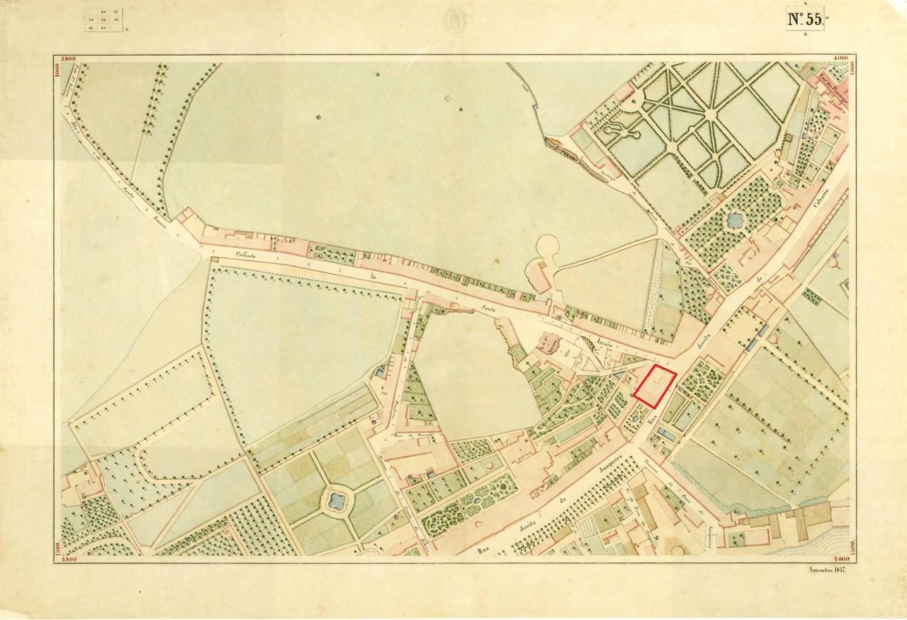 Atlas da carta topográfica de Lisboa, nº 55, de