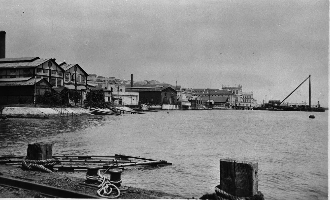 Arsenal de Marinha, docas e edifícios, 1939, edu