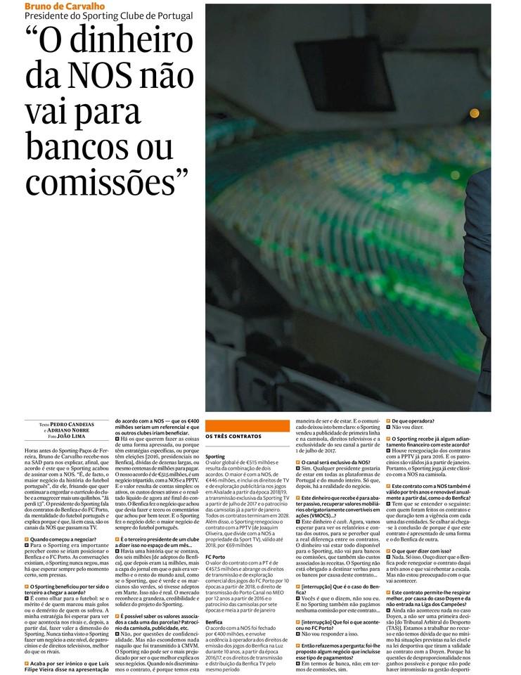 Entrevista do Presidente Bruno de Carvalho ao Expr