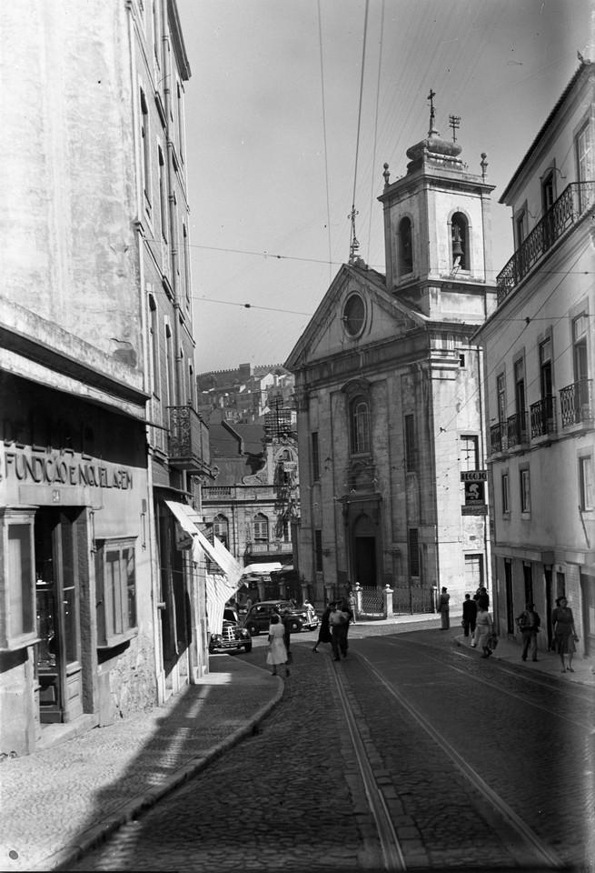 Rua de São Lázaro e Igreja do Socorro antes das
