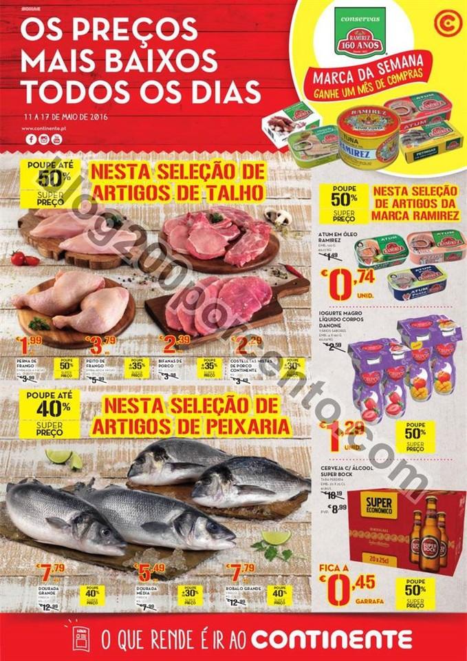 Antevisão Folheto CONTINENTE - MODELO Madeira de