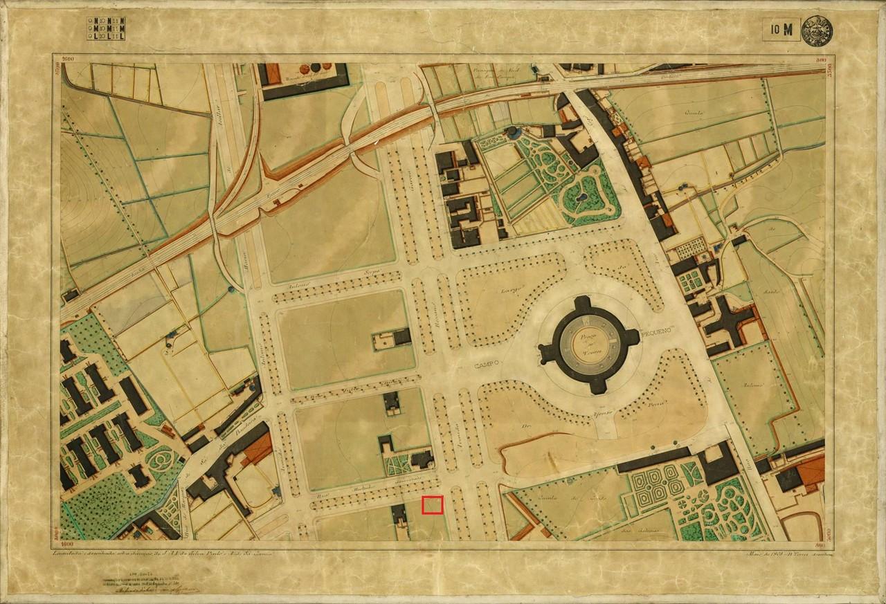 Planta Topográfica de Lisboa 10 M, de Maio de 190