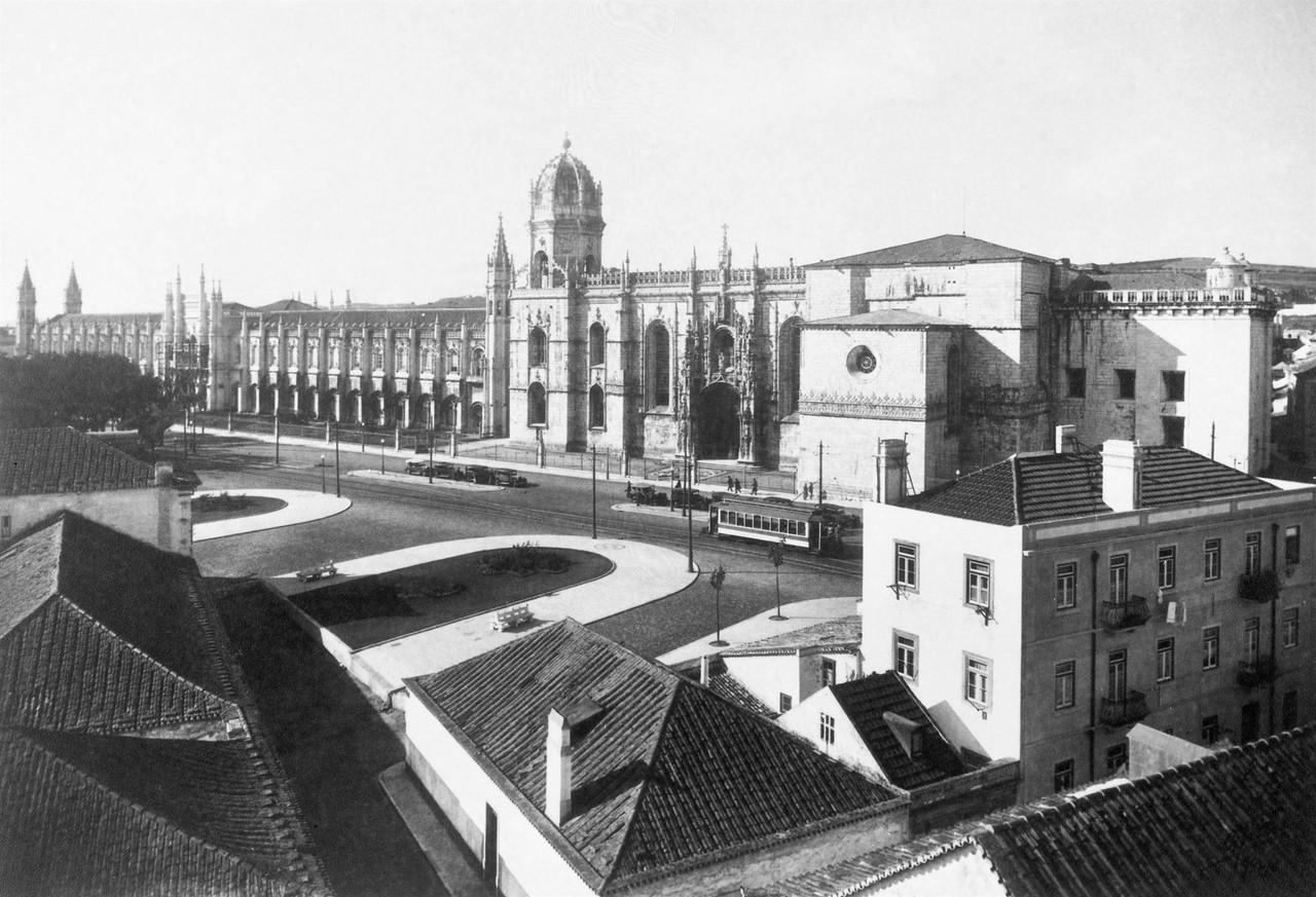 Mosteiro dos Jerónimos, 1934 foto de Domingos Alv