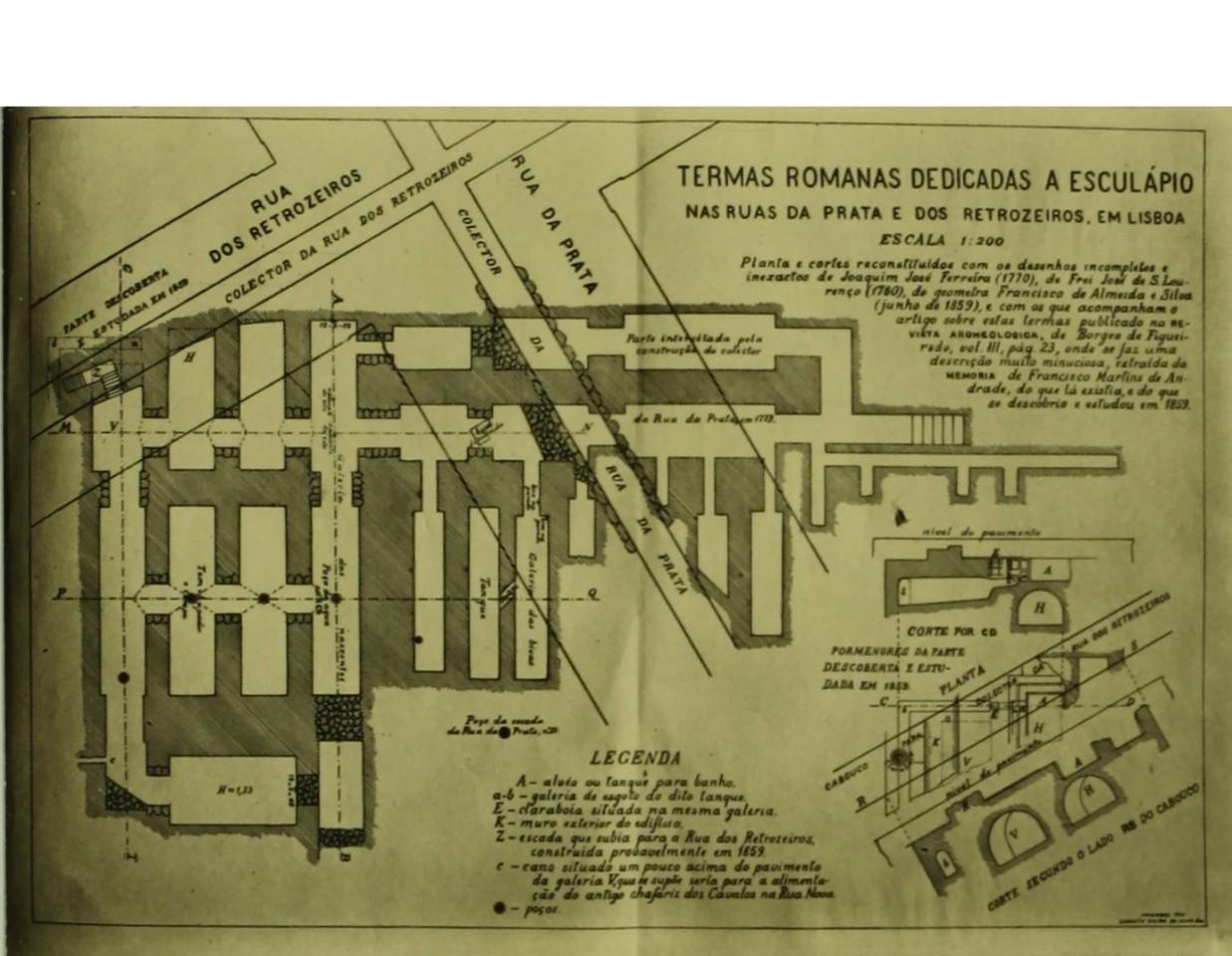 Galerias romanas dedicadas a Esculápio, nas ruas