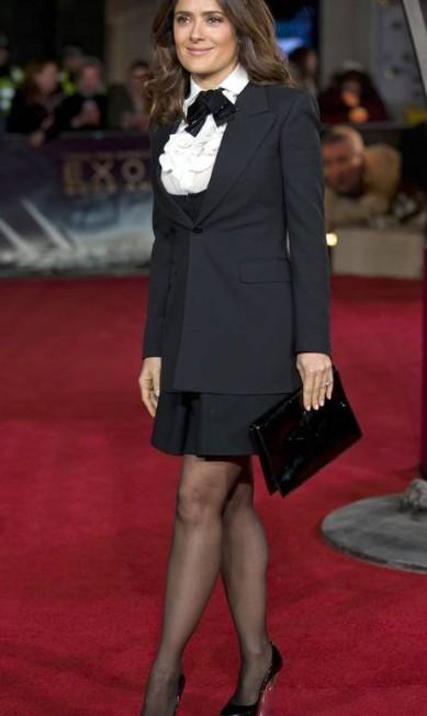 "Salma Hayek na première de \""Exodus\"" em Londres"