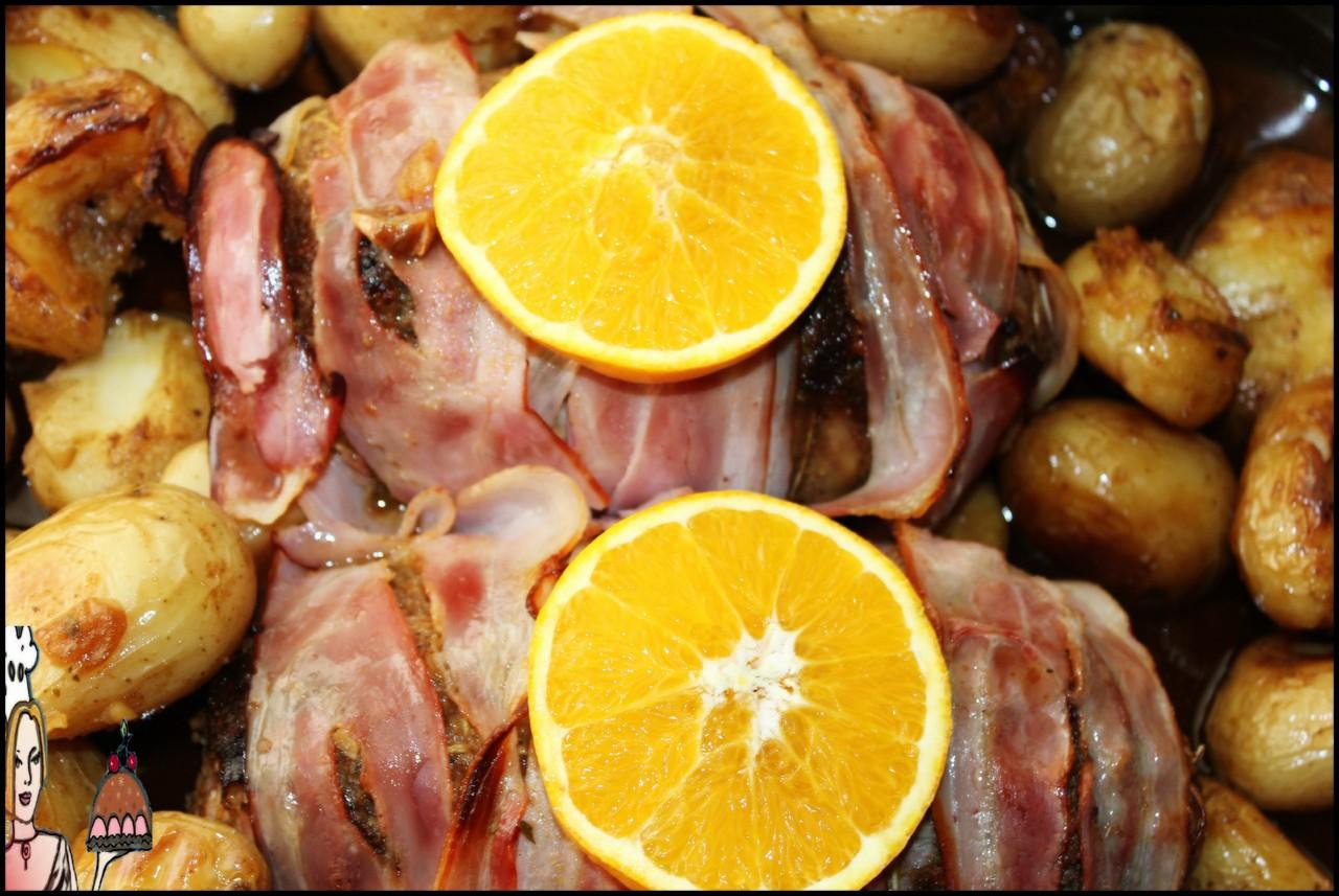 Receita de rolo recheado com alperces e bacon