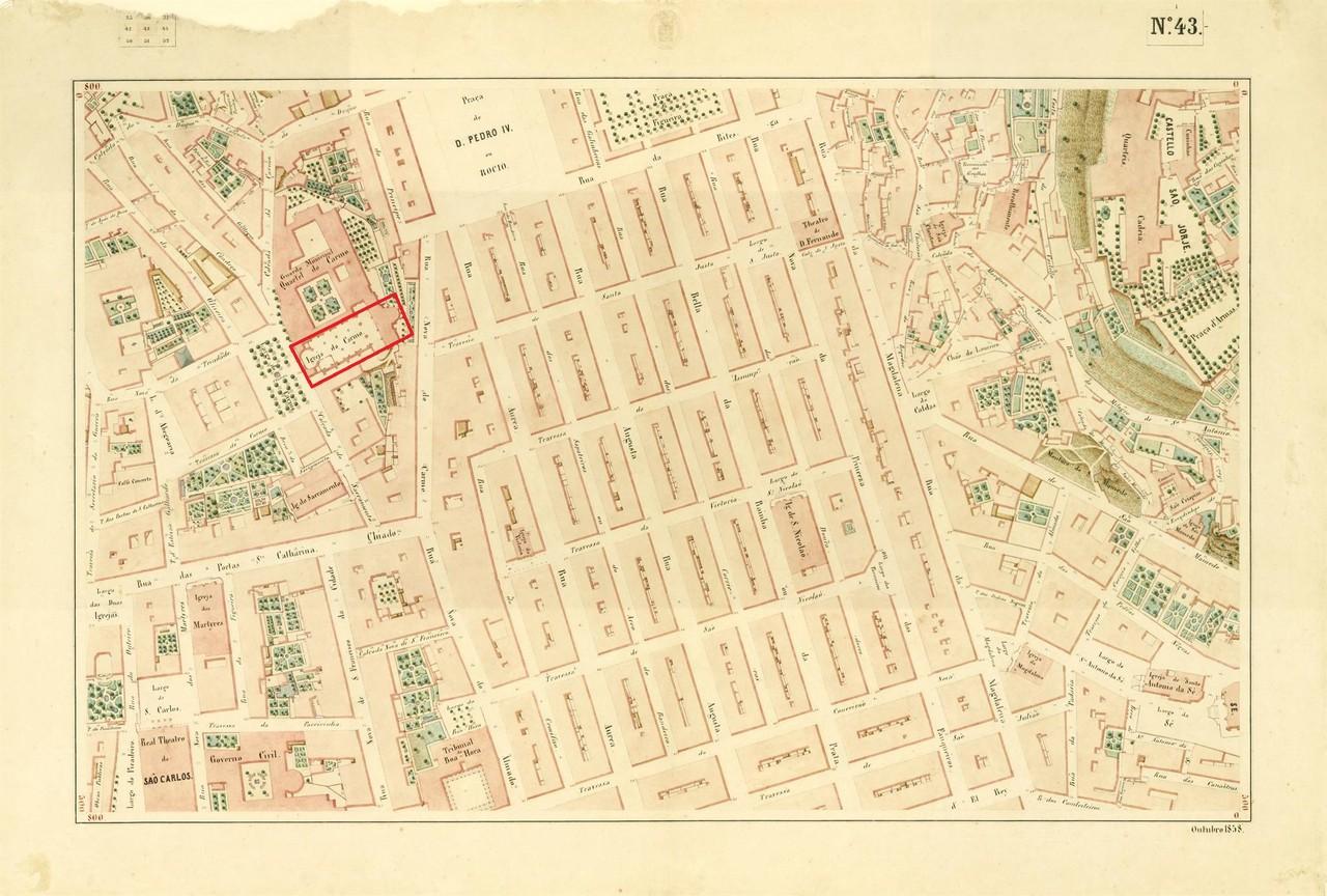 Atlas da carta topográfica de Lisboa, Nº 43, 185