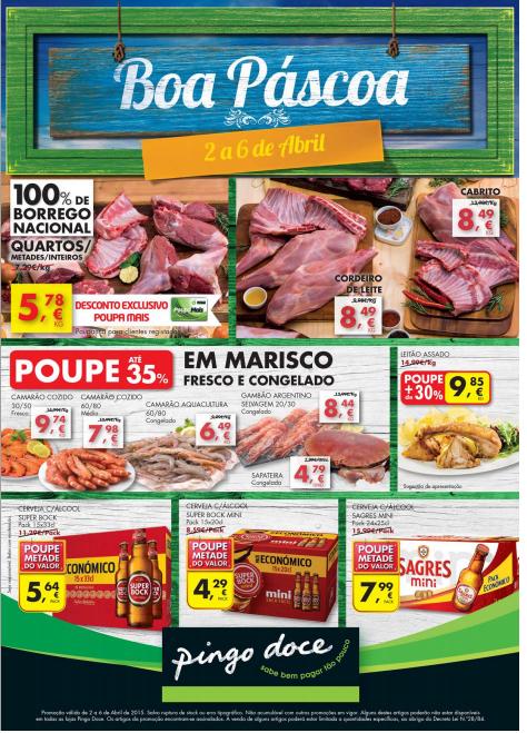 Folheto Pingo Doce Promoções Fim de Semana Pág.