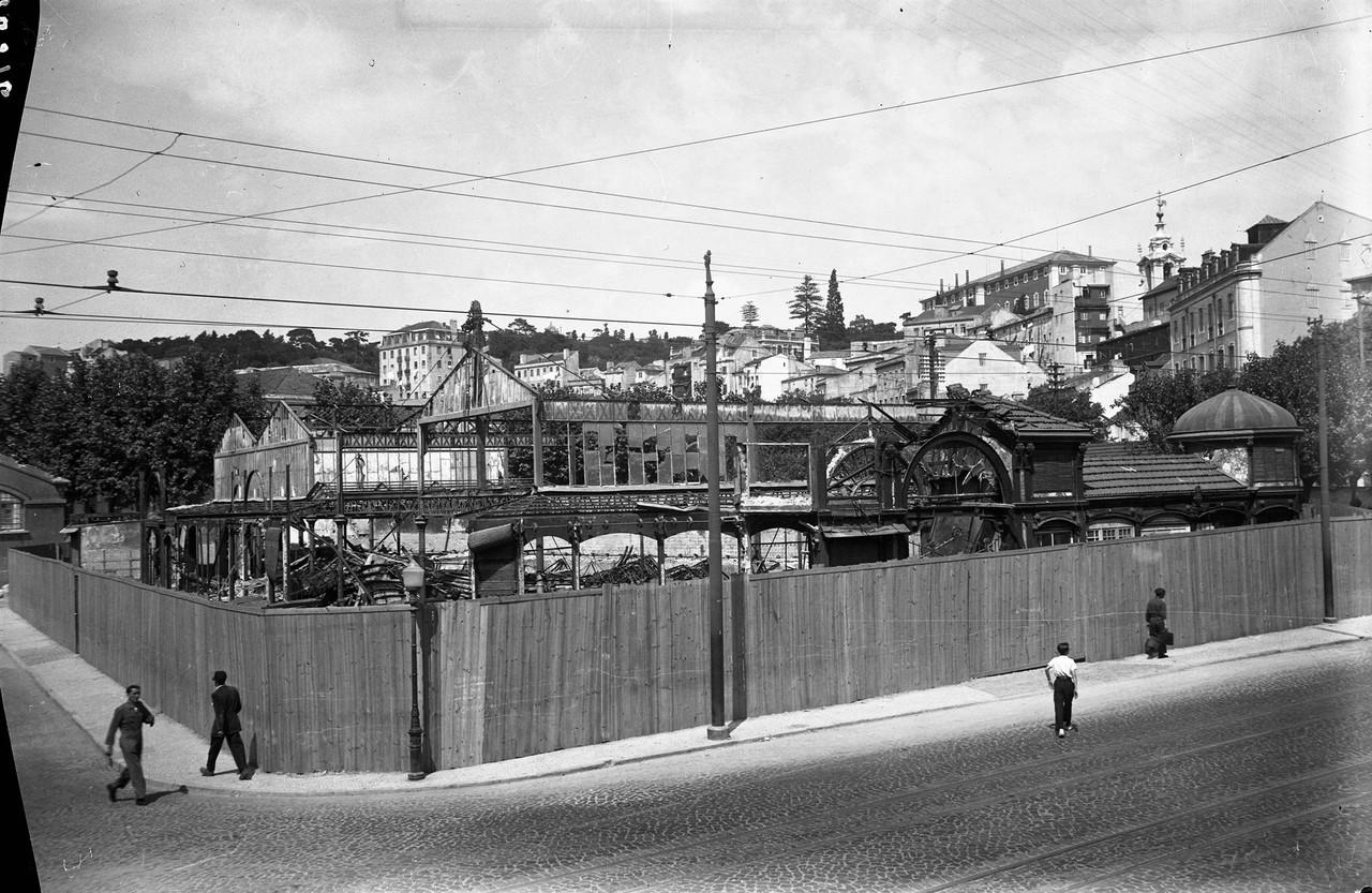 Mercado de Alcântara, demolição, 1955, foto de