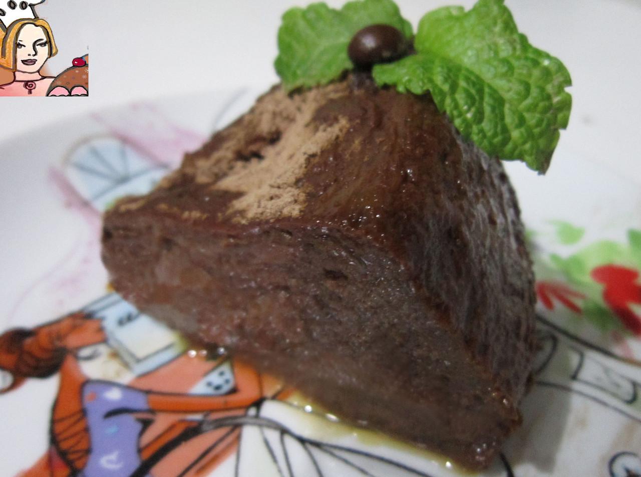 Pudim delicioso de chocolate