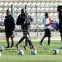 Primeiro treino do Sporting no Cabo