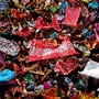 Oferenda de arroz no festival Annakut, Índia