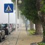 Figueira da Foz com nevoeiro - Passeio na Avenida