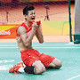 Euforia no badminton