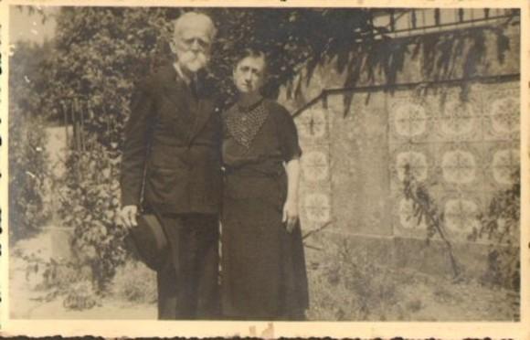 Bernardino Machado e D. Elzira - Mantelães 1941