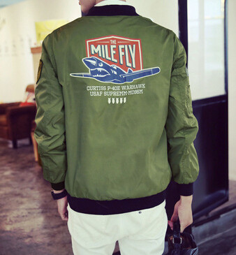 Street-style-Outfits-jacket-men-Zip-Military-Fligh