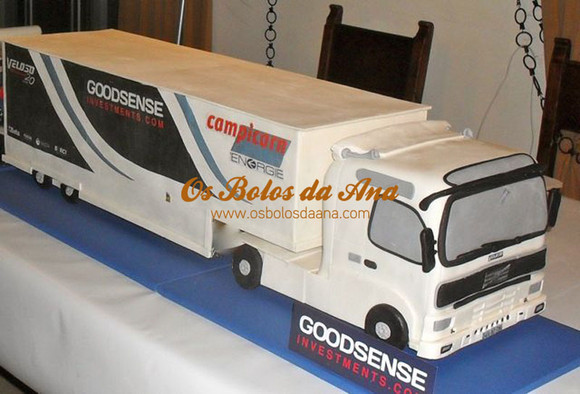 Bolo 3D Replica Camião TIR