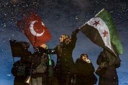 Saída caravana de ajuda Alepo, Turquia