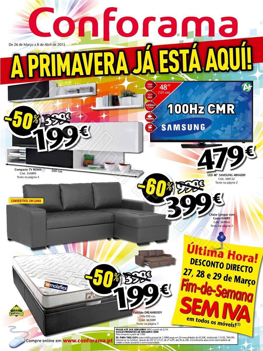 Novo folheto conforama promo es de 26 mar o a 8 abril for Conforama portugal