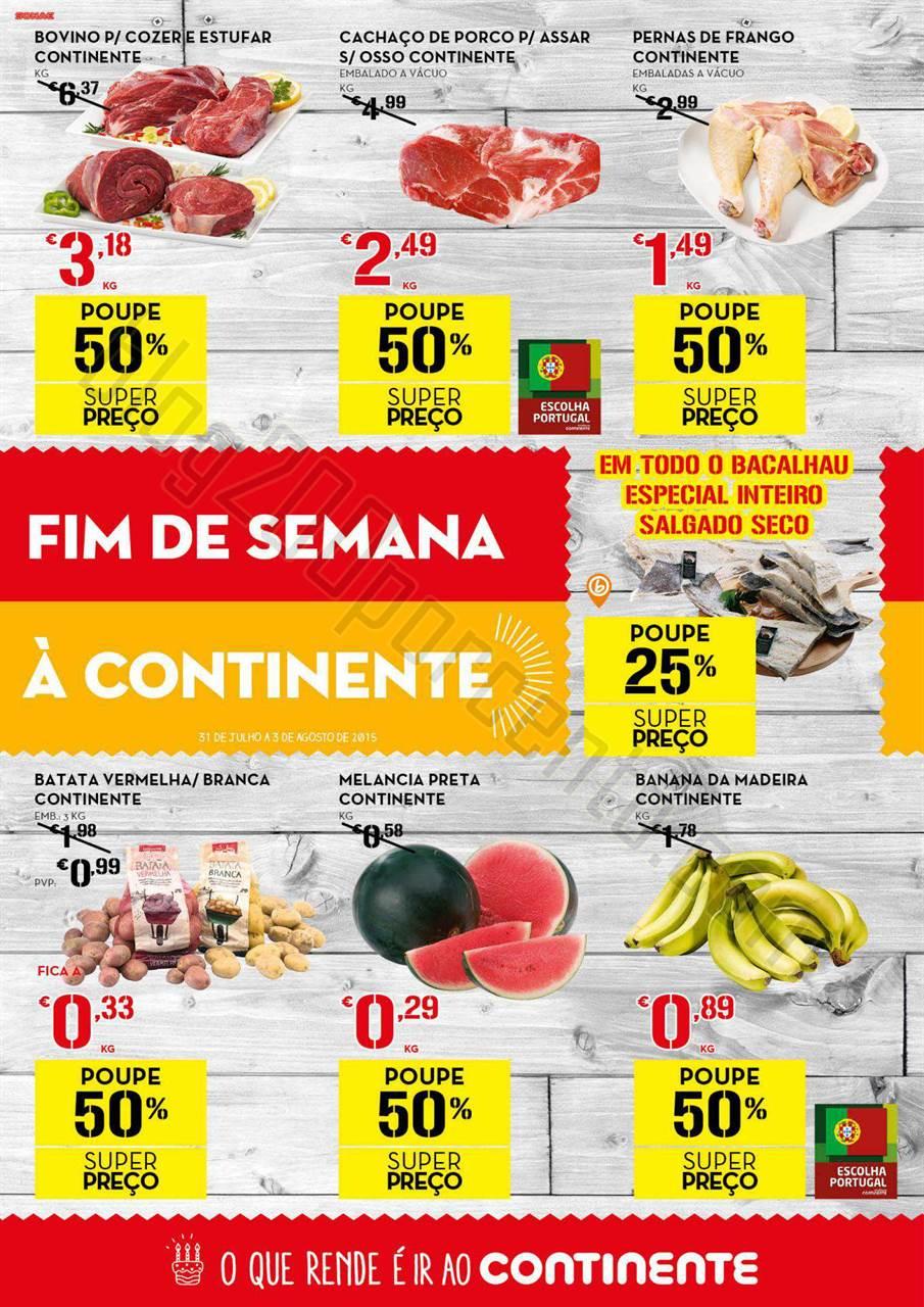 Antevisão Folheto CONTINENTE Fim de semana de 31