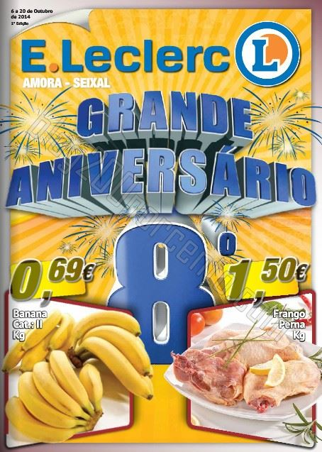 Novo folheto E-LECLERC Amora - Seixal de 6 a 20 outubro