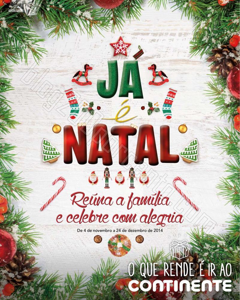 Antevisão Folheto CONTINENTE Já é Natal de 4 no