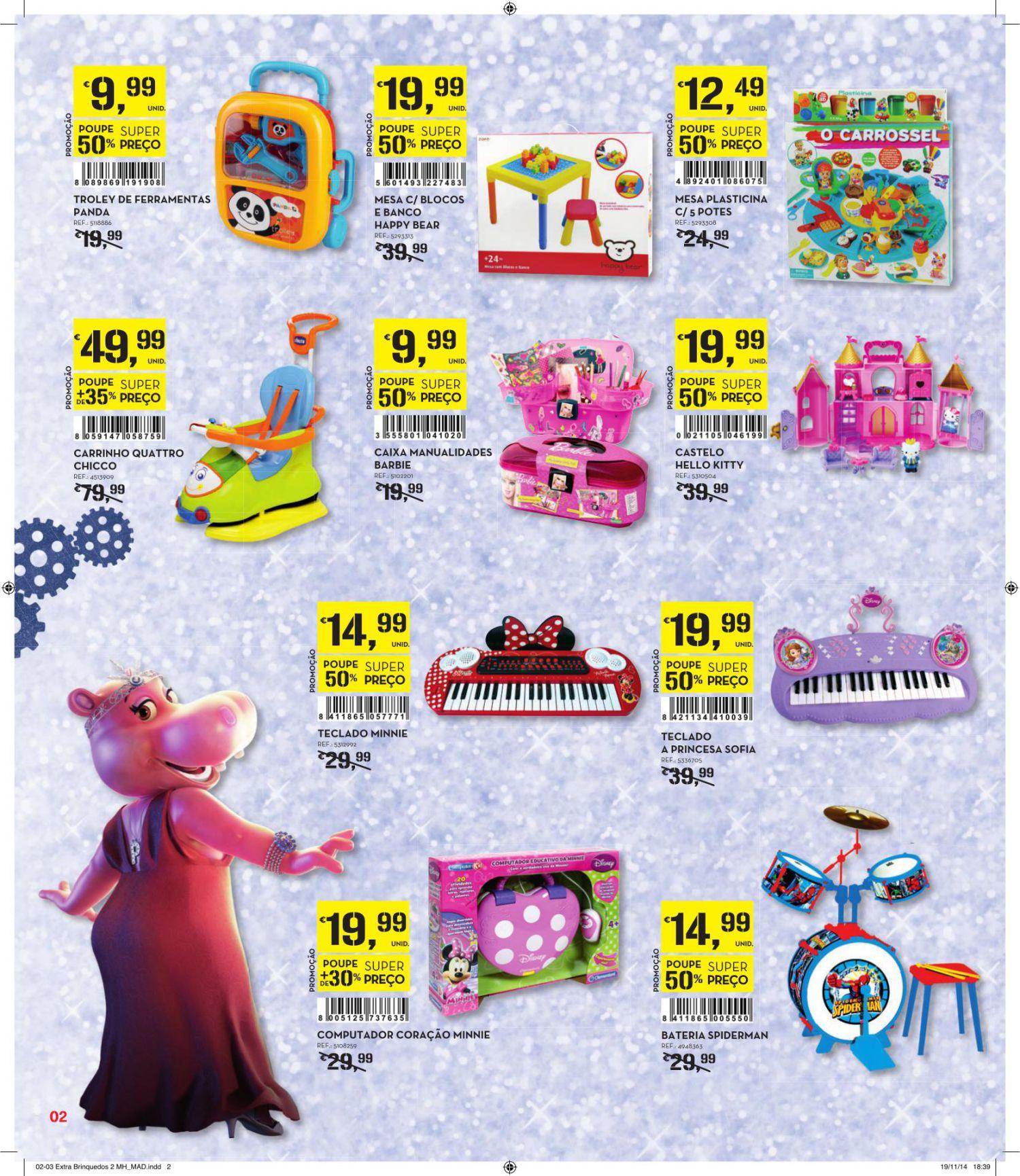 Brinquedos continente 2018