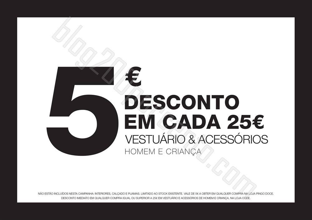 Promoção CODE - PINGO DOCE 5€ de desconto de 8 a 14 outubro