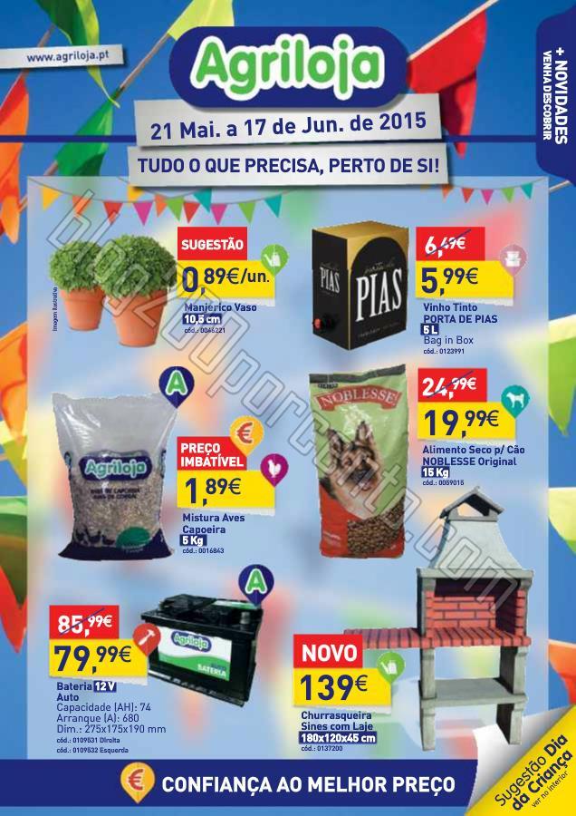 Antevisão Folheto AGRILOJA Promoções de 21 maio