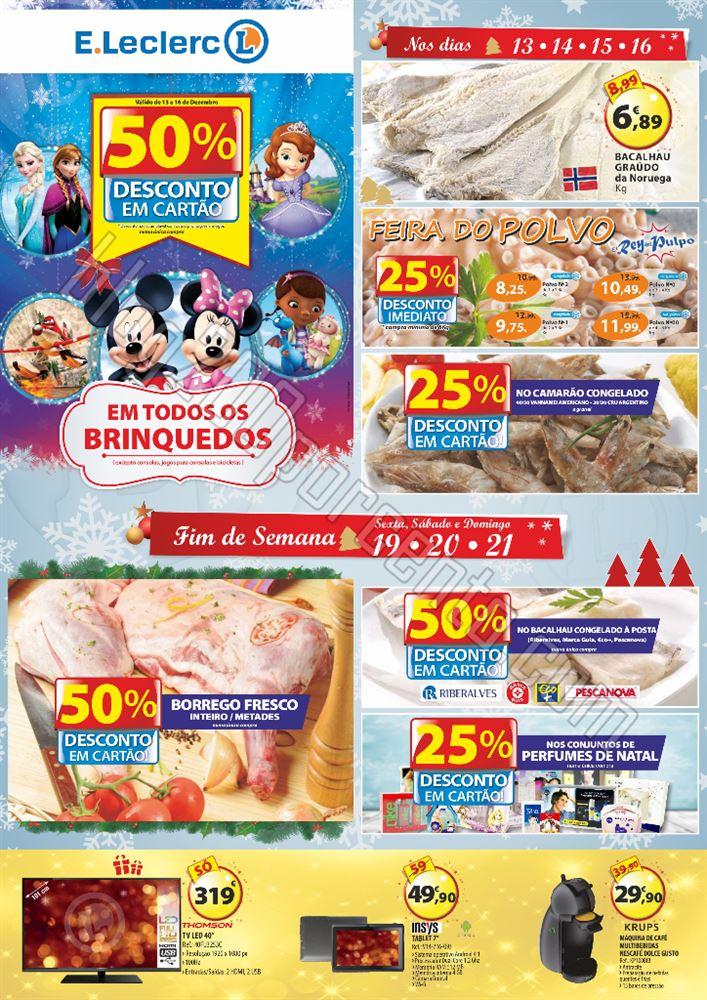 Antevisão Folheto E-LECLERC Chaves Natal de 13 a