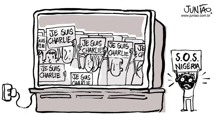 Charge_Juniao_12_01_2014_Charlie_Hebdo_vs_NigeriaB